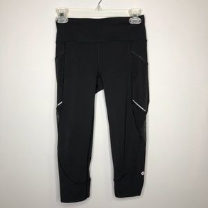 Lululemon Black Home Stretch Crop